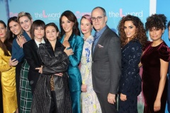 "LOS ANGELES, CALIFORNIA - DECEMBER 02:  (L-R)  Marja-Lewis Ryan, Stephanie Allynne, Arienne Mandi, Jacqueline Toboni, Katherine Moennig, Ilene Chaiken, Jennifer Beals, Leisha Hailey, David Nevins, Sepideh Moafi, Rosanny Zayas and Leo Sheng attend the premiere of Showtime's ""The L Word: Generation Q"" at Regal LA Live on December 02, 2019 in Los Angeles, California."