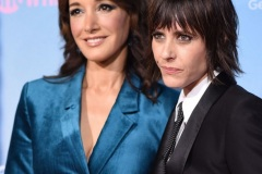 "Actresses Jennifer Beals (L) and Kate Moennig attend the red carpet premiere for Showtime's new drama series ""The L Word: Generation Q,"" on December 2, 2019 at the Regal Cinemas at L.A. LIVE in Los Angeles, California."