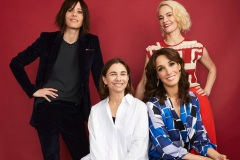 BEVERLY HILLS, CALIFORNIA - AUGUST 02: (L-R) Katherine Moennig, Ilene Chaiken, Jennifer Beals and Leisha Hailey of Showtime's 'The L Word: Generation Q' pose for a portrait during the 2019 Summer Television Critics Association Press Tour at The Beverly Hilton Hotel on August 02, 2019 in Beverly Hills, California.