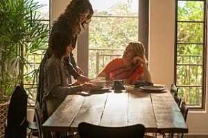 """Katherine Moennig as Shane, Jennifer Beals as Bette and Leisha Hailey as Alice in THE L WORD: GENERATION Q """"Lake House""""."""