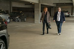 Tina and Carrie walking