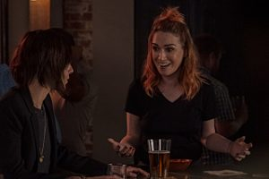"(L-R) Katherine Moennig as Shane McCutcheon and Jamie Clayton as Tess in THE L WORD: GENERATION Q, ""Less is More"". Photo Credit: Hilary Bronwyn Gayle/SHOWTIME."