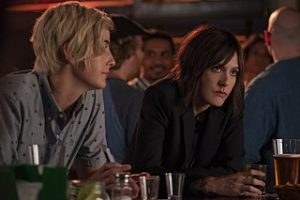 "(L-R) Jacqueline Toboni as Sarah Finely and Katherine Moennig as Shane McCutcheon in THE L WORD: GENERATION Q, ""Less is More"". Photo Credit: Hilary Bronwyn Gayle/SHOWTIME."