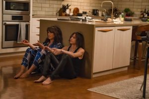 "(L-R) Jennifer Beals as Bette Porter and Katherine Moennig as Shane McCutcheon in THE L WORD: GENERATION Q, ""LA Times""."
