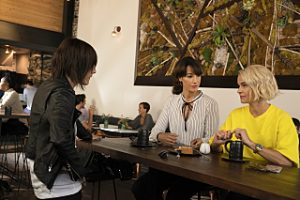 "(L-R) Katherine Moennig as Shane McCutcheon, Jennifer Beals as Bette Porter and Leisha Hailey as Alice Pieszeckie in THE L WORD: GENERATION Q, ""LA Times""."