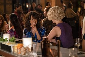 "(L-R) Jennifer Beals as Bette Porter and Leisha Hailey as Alice Pieszeckie in THE L WORD: GENERATION Q, ""LA Times""."