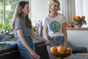 Nat and Alice standing in their kitchen on The L Word Generation Q