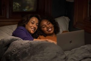 Bette in bed with Angie on The L Word Generation Q