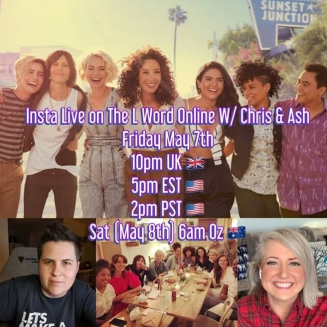 Join @the.ash.silver and I (@chris_lintner) LIVE as we discuss all things L Word Gen Q this Fri/Sat at the above times. Be there or be square 🤓 CORRECTION TO AUSSIE TIME; ITS 7AM NOT 6AM
